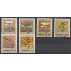 Zimbabwe - 1992 - Nb 250/255 - Mushrooms