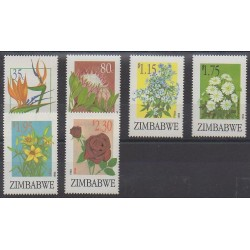 Zimbabwe - 1994 - Nb 300/305 - Flowers