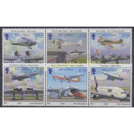 Man (Ile de) - 2003 - No 1080/1085 - Avions