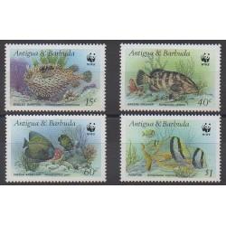 Antigua et Barbuda - 1987 - No 963/966 - Animaux marins - Espèces menacées - WWF