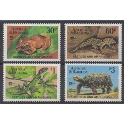 Antigua and Barbuda - 1987 - Nb 1011/1014 - Reptils - Philately