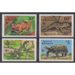Antigua et Barbuda - 1987 - No 1011/1014 - Reptiles - Philatélie