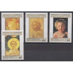 Antigua et Barbuda - 1992 - No 1487/1490 - Noël - Peinture