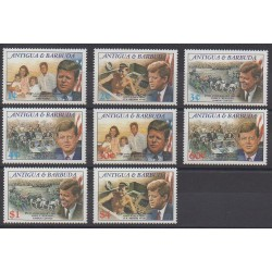 Antigua et Barbuda - 1988 - No 1114/1121 - Célébrités