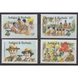 Antigua et Barbuda - 1985 - No 863/866 - Scoutisme