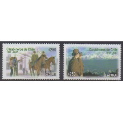 Chile - 2007 - Nb 1735/1736 - Military history