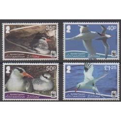 Ascension - 2011 - No 1038/1041 - Oiseaux - Espèces menacées - WWF