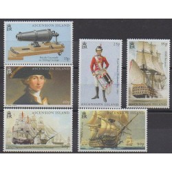 Ascension Island - 2005 - Nb 859/864 - Military history - Boats