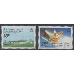 Ascension Island - 1989 - Nb 490/491 - Space