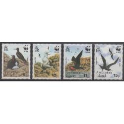 Ascension - 1990 - No 503/506 - Oiseaux - Espèces menacées - WWF