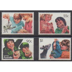 Australie - 1987 - No 1029/1032 - Enfance