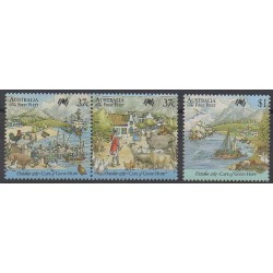 Australia - 1987 - Nb 1026/1028 - Various Historics Themes