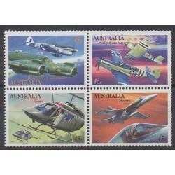 Australia - 1996 - Nb 1487/1490 - Planes - Military history