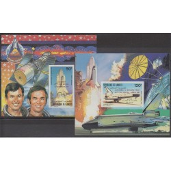 Djibouti - 1981 - Nb BFPA157/BFPA158ND - Space