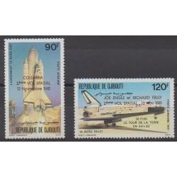 Djibouti - 1981 - No PA157/PA158 - Espace