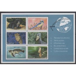 Angola - 1999 - Nb 1257/1262 - Endangered species - WWF