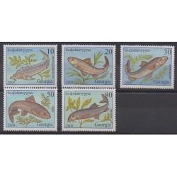 Géorgie - 2000 - No 262/266 - Animaux marins