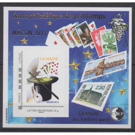 France - Feuillets CNEP - 2013 - No CNEP 63 - Timbres sur timbres