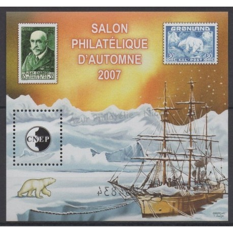 France - CNEP Sheets - 2007 - Nb CNEP 49 - Polar - Stamps on stamps