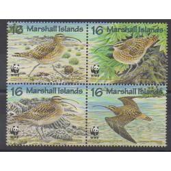 Marshall - 1997 - No 794/797 - Oiseaux - Espèces menacées - WWF