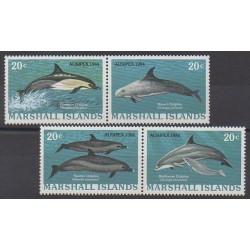 Marshall - 1984 - No 55/58 - Mammifères - Animaux marins