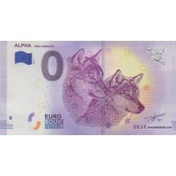 Billet souvenir - Alpha - Parc Animalier - 2018-1