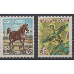 Égypte - 1978 - No 1042/1043 - Oiseaux