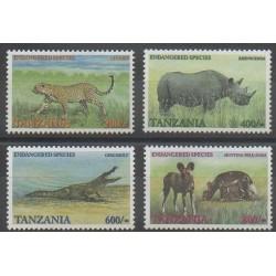 Tanzanie - 2001 - No 3154/3157 - Mammifères - Reptiles