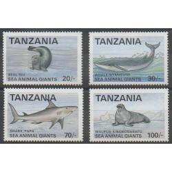 Tanzania - 1992 - Nb 1133/1136 - Mamals