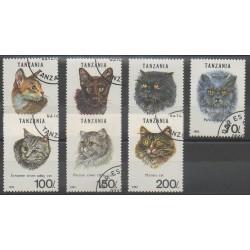 Tanzanie - 1994 - No 1349/1355 - Chats - Oblitérés