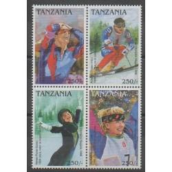 Tanzanie - 1997 - No 2208/2211 - Jeux olympiques d'hiver