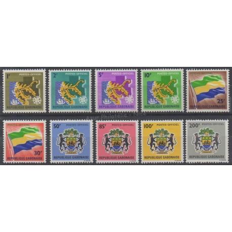Gabon - 1968 - No S 1/10 - Drapeaux - Armoiries