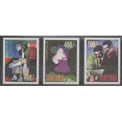 Tanzanie - 1998 - No 2567/2569 - Peinture