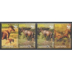 Tanzania - 2006 - Nb 3441/3444 - Mamals - Endangered species - WWF