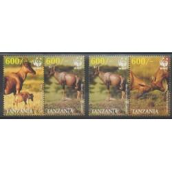 Tanzanie - 2006 - No 3441/3444 - Mammifères - Espèces menacées - WWF