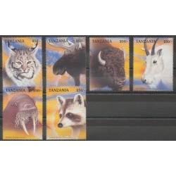 Tanzanie - 1998 - No 2366/2371 - Mammifères - Espèces menacées - WWF