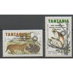 Tanzanie - 1988 - No 418/419 - Mammifères - Rotary ou Lions club