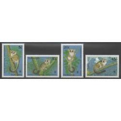 Tanzanie - 1989 - No 444/447 - Mammifères - Espèces menacées - WWF