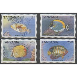 Tanzania - 1989 - Nb 491A/491D - Sea animals