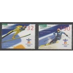 Kazakhstan - 2010 - No 574/575 - Jeux olympiques d'hiver