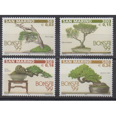 San Marino - 1999 - Nb 1621/1624 - Flora