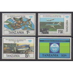 Tanzanie - 1984 - No 247/250 - Aviation