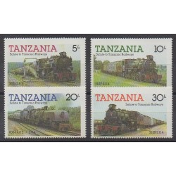 Tanzania - 1985 - Nb 263/266 - Trains