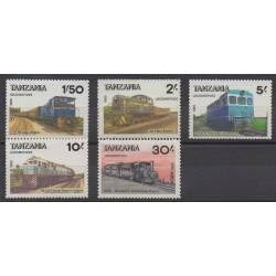 Tanzanie - 1985 - No 266J/266N - Chemins de fer