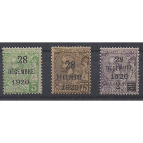 Monaco - 1921 - Nb 48/50