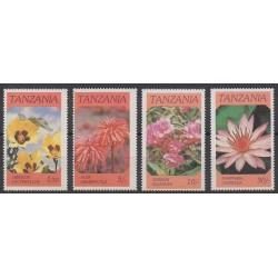 Tanzania - 1986 - Nb 281/284 - Flowers