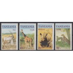 Tanzania - 1986 - Nb 285/288 - Mamals