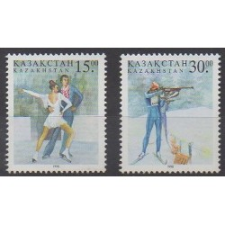 Kazakhstan - 1998 - No 170/171 - Jeux olympiques d'hiver
