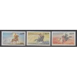 Kazakhstan - 1998 - Nb 202/204 - Horses