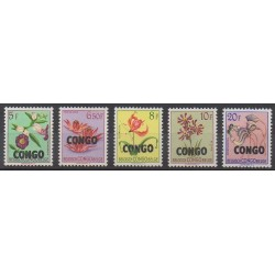Congo belge - République - 1960 - No 393/397 - Fleurs